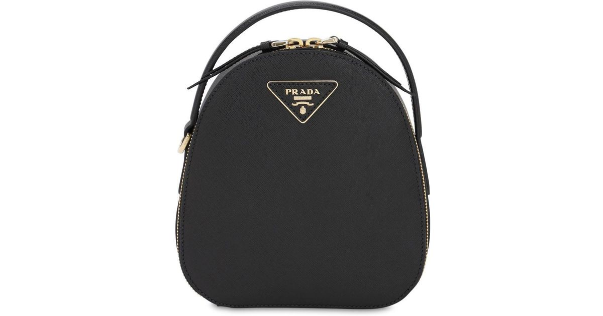 67d9ebf877 Prada Black Small Saffiano Leather Backpack