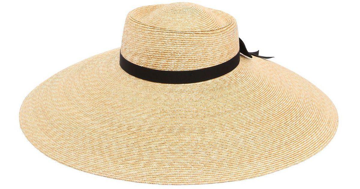 e7bfaa2b5 Gucci Natural Wide Brim Straw Hat