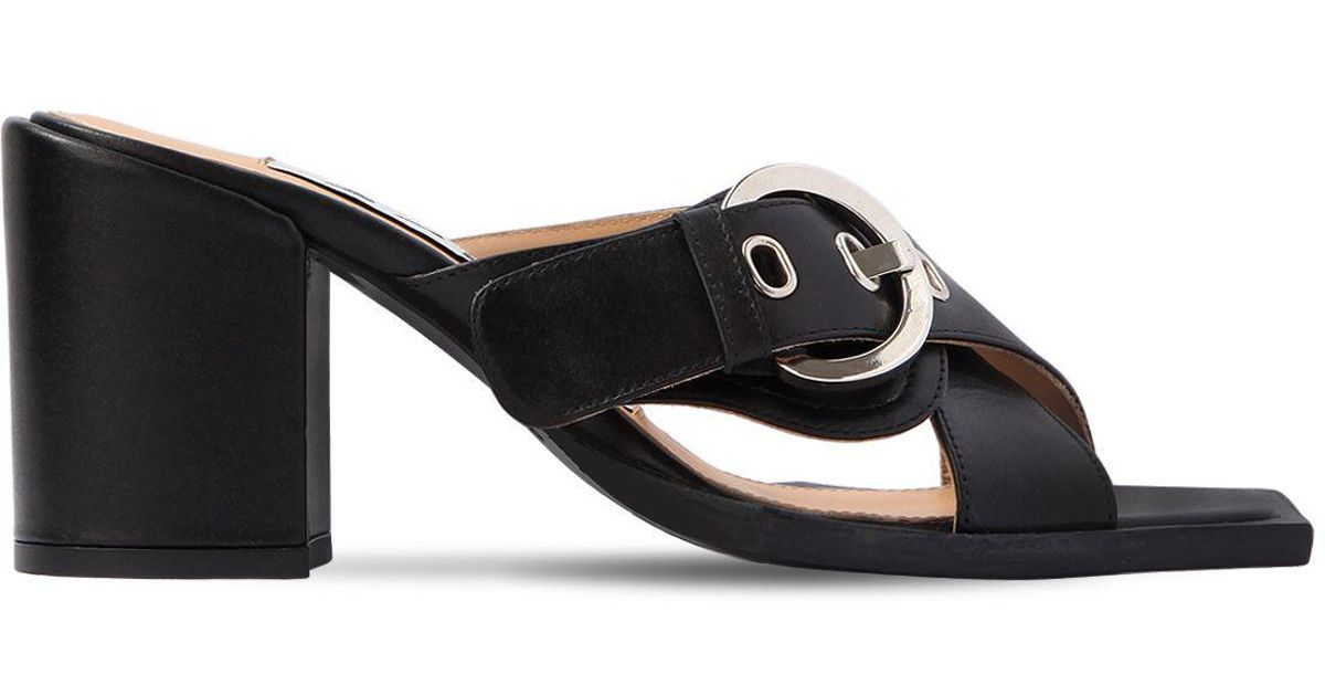 AALTO 80MM CHUNKY LEATHER SANDALS Deals For Sale OKlOo