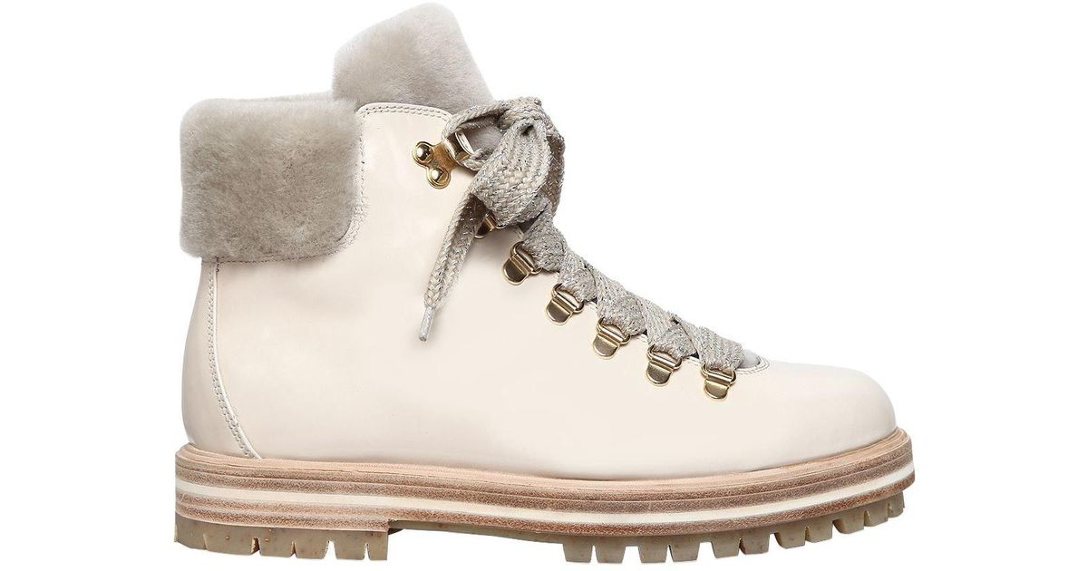 347ed3d154036e Attilio Leombruni amp; Leather 30mm Boots Hiking Shearling Giusti Agl daqw4d