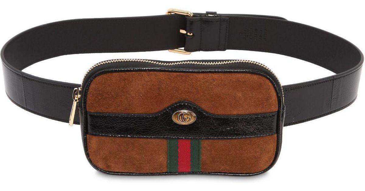 dceeef91847 Gucci Brown Mini Ophidia Suede Belt Pack