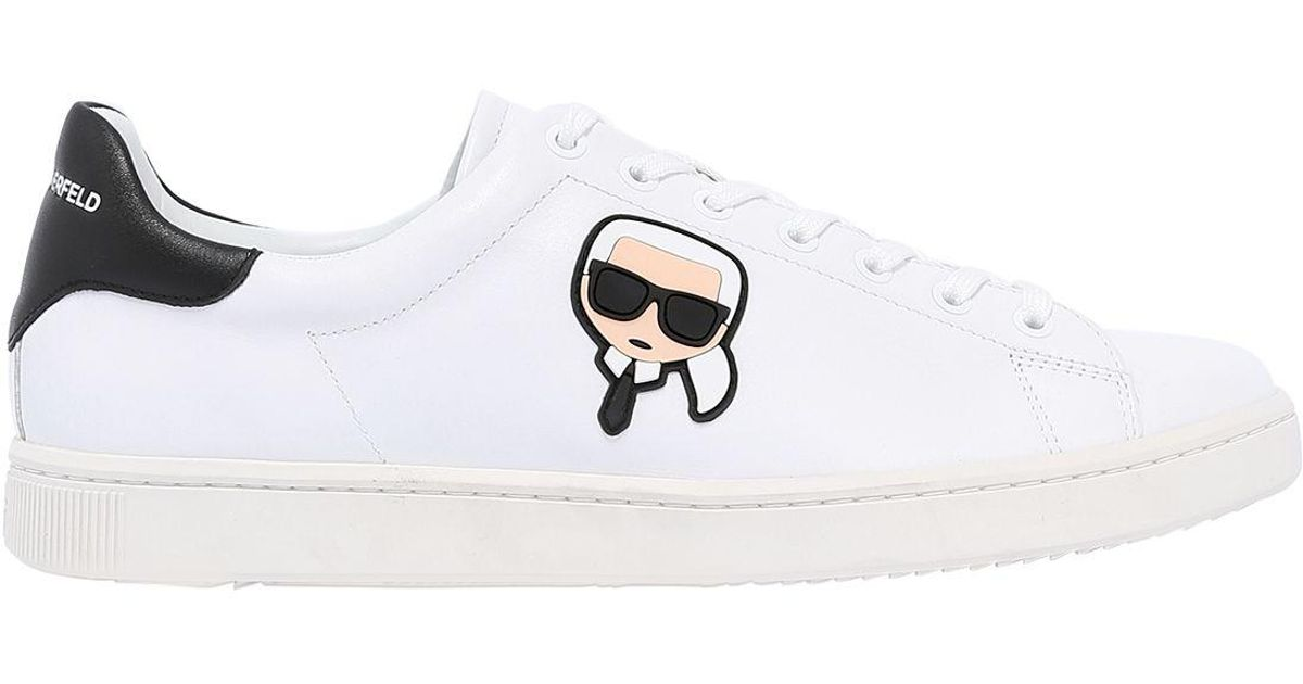 uk availability adde1 fae5d karl-lagerfeld-WHITE-Leather-Sneakers-W-Karlito-Patch.jpeg