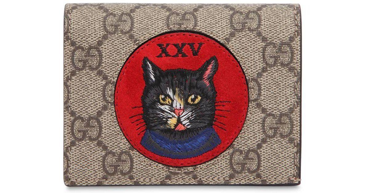 the best attitude faf0e b978b Gucci Red Oblo' Cat Card Holder