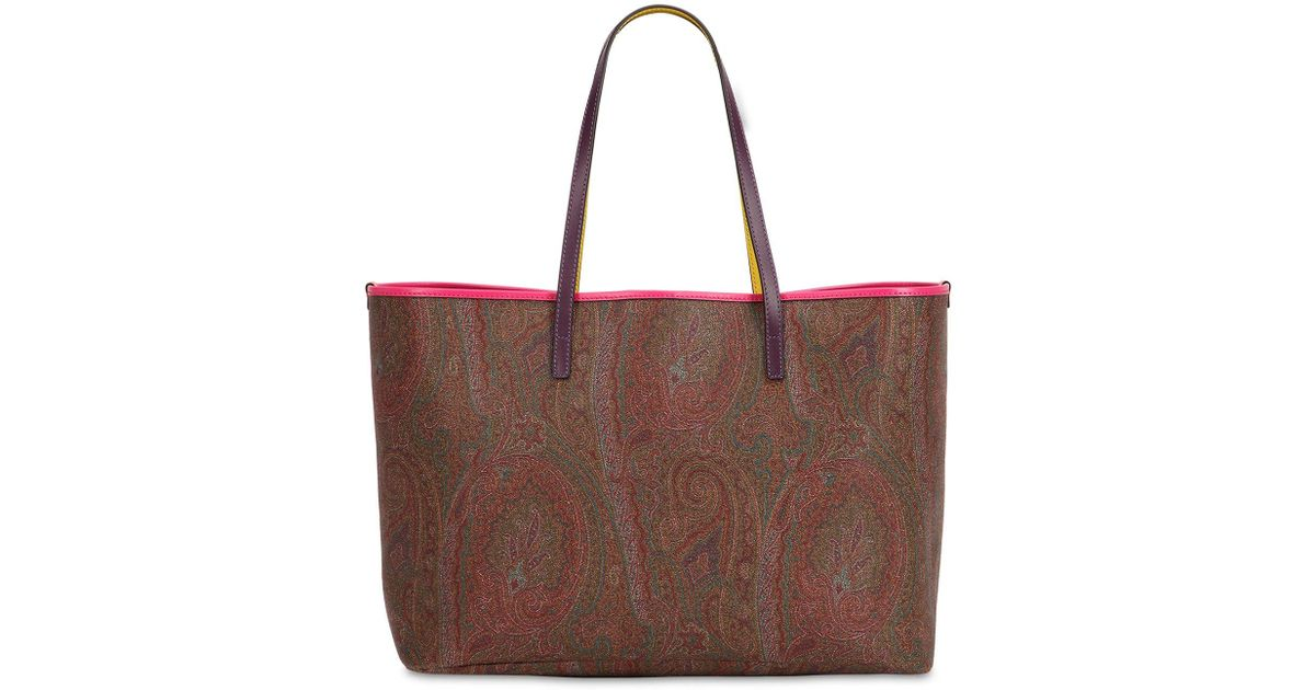 Etro PAISLEY FAUX LEATHER TOTE BAG W/ POUCH Fashion Style Cheap Online Outlet 2018 Outlet Best Seller Best Wholesale Online Free Shipping Big Sale VdJlDyCjJ