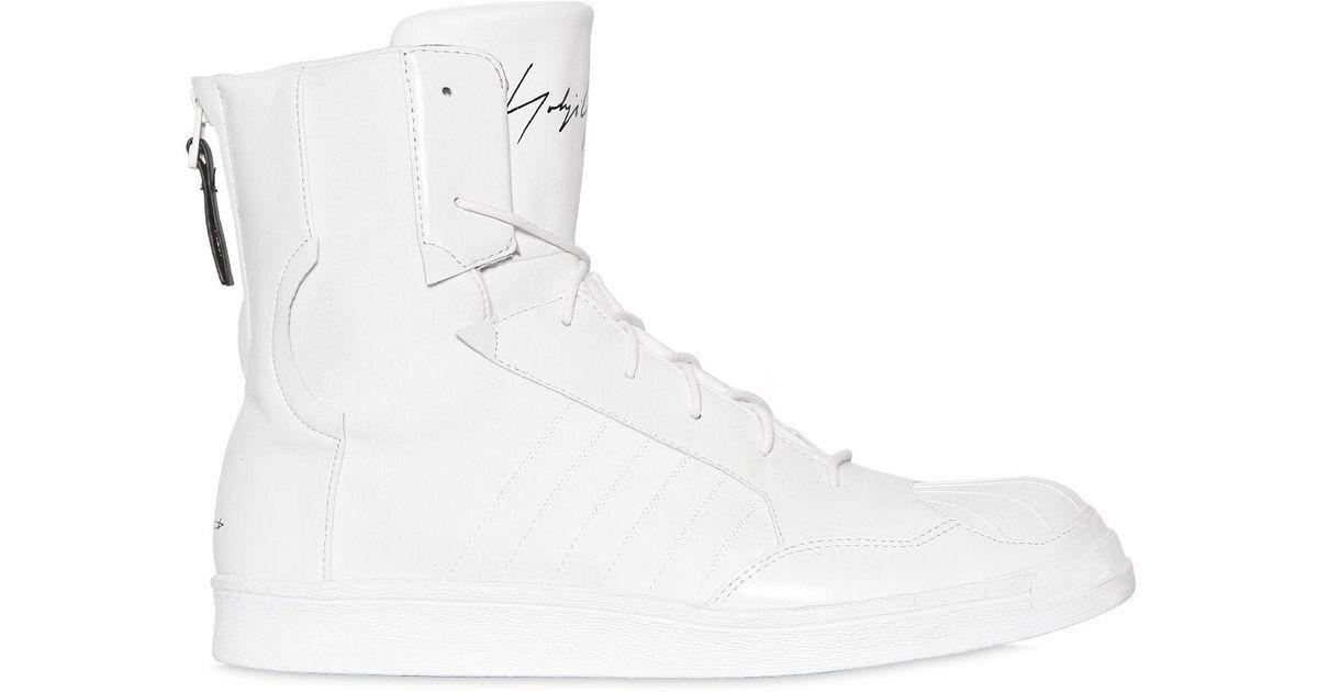 faf57d1741a60 Yohji Yamamoto Adidas Superstar Neoprene Punk Sneakers in White for Men -  Lyst