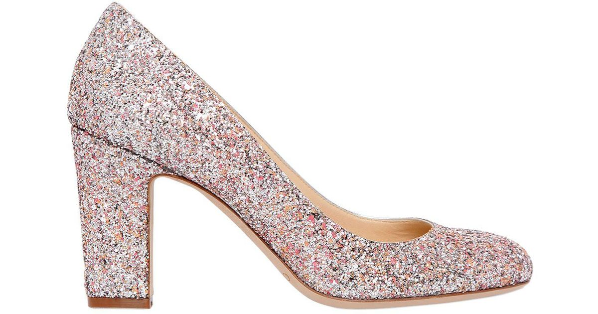 e4ee242f5ace Lyst - Jimmy Choo 85mm Billie Glitter Pumps in Pink