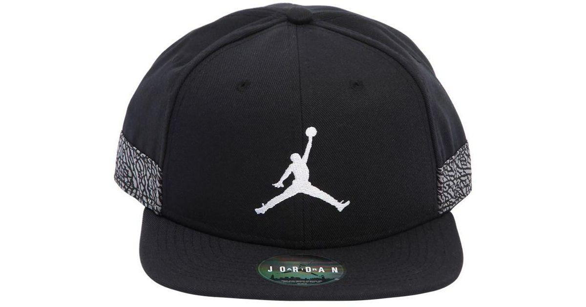 a1dc7792881 ... france nike air jordan jumpman pro aj 3 hat in black for men lyst 3f245  90c6f ...