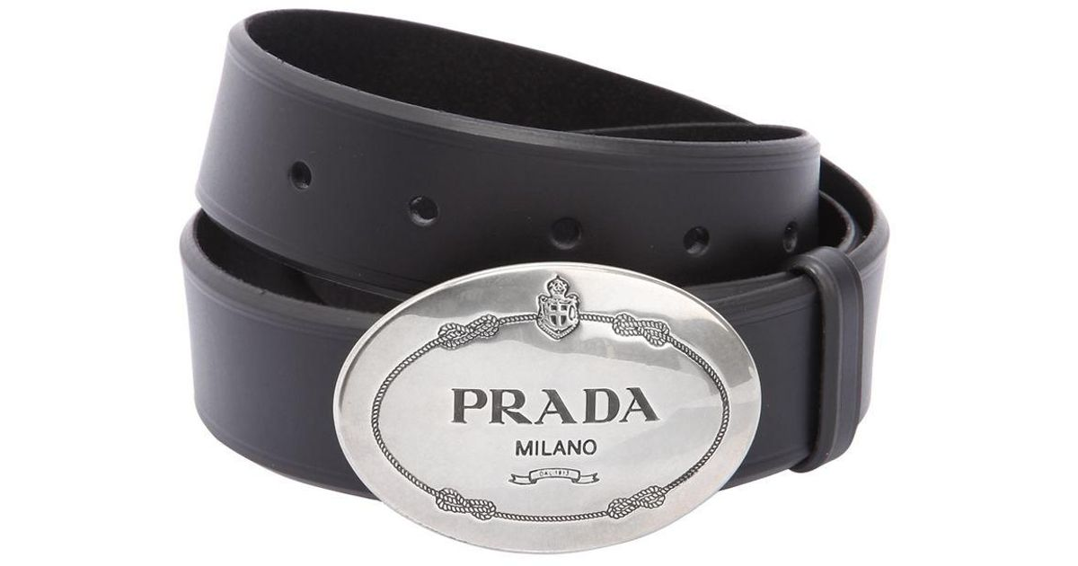 a982200d22a4f ... where can i buy lyst prada 35mm western buckle leather belt in black  for men a0414