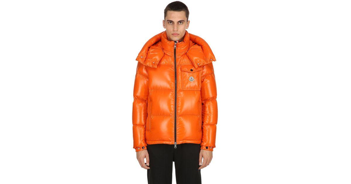 404119ec6 Moncler Orange Montbeliard Nylon Laqué Down Jacket for men