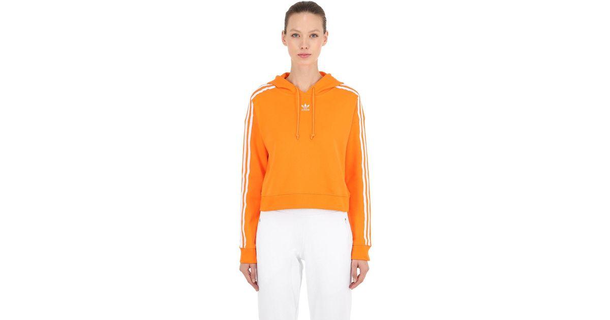 93357562 Sudadera De Algodón Con Capucha Adidas Originals de color Orange
