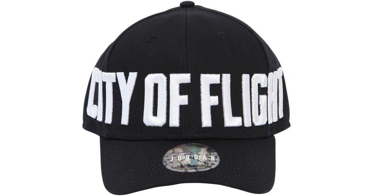 cecbb7372720c ... australia lyst nike jordan classic 99 city of flight hat in black 91f5b  b6406
