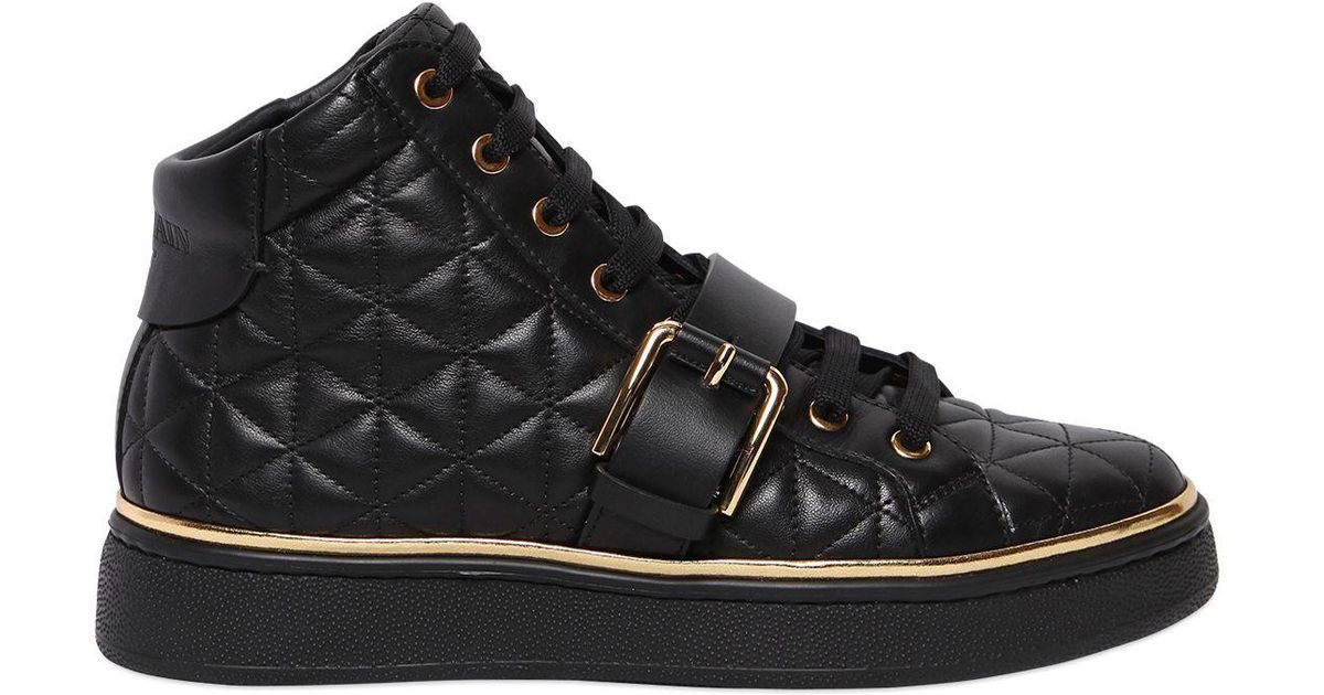 4fe1192cc52 Balmain 20mm Active Quilted Leather Sneakers in Black - Lyst