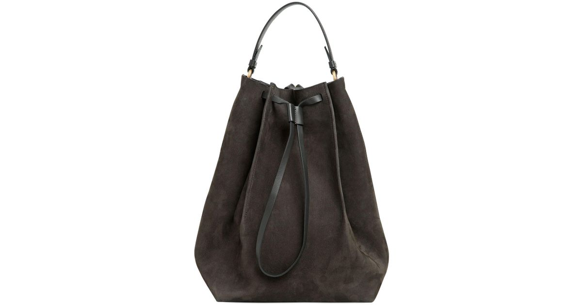 Maison Martin Margiela LARGE NUBUCK LEATHER BUCKET BAG 7lV3dYyv
