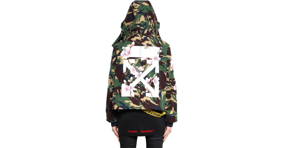 f03b75acc9131 Off-White c/o Virgil Abloh M65 Camo & Cherry Blossom Canvas Jacket in Green  - Lyst