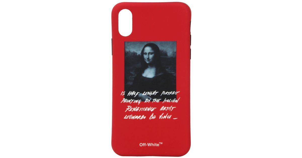 100% authentic 85227 cda85 Off-White c/o Virgil Abloh Red Mona Iphone X Cover for men