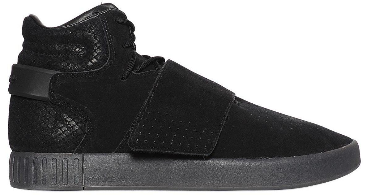 ... coupon for lyst adidas originals tubular invader suede high top sneakers  in black for men 90b48 c4aa2c264