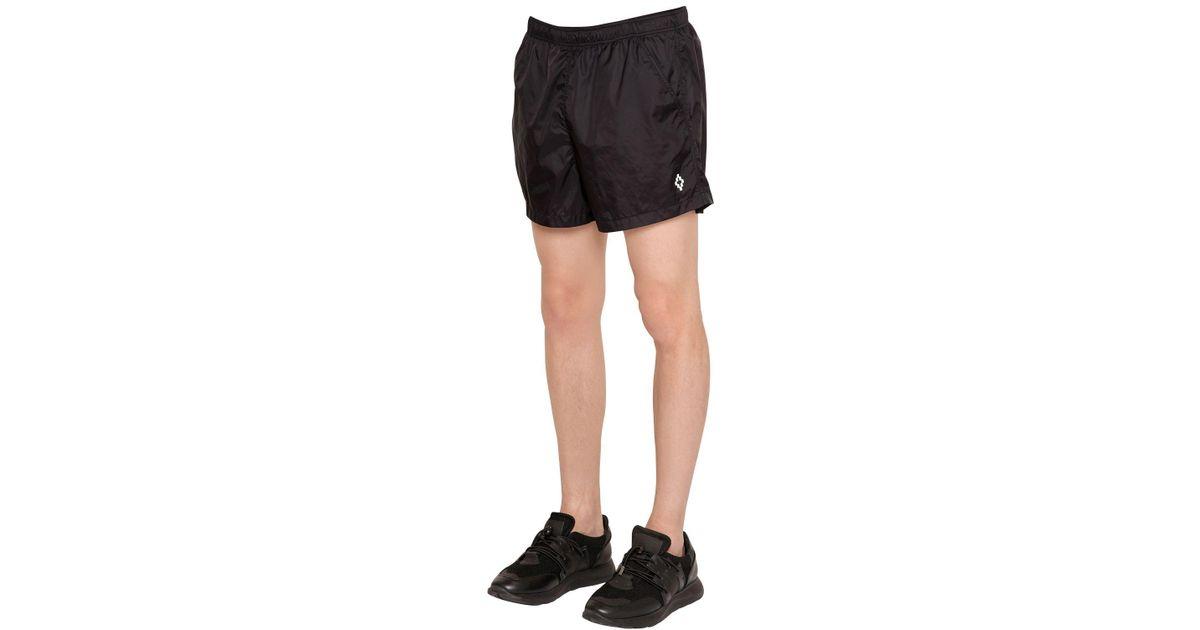 Marcelo Burlon Synthetic Chico Nylon Swim Shorts In Black For Men Lyst