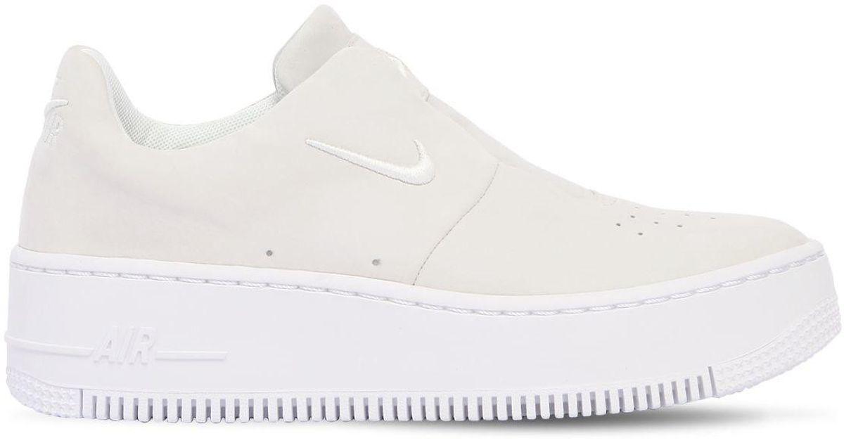best cheap aab3b 7dab5 Nike White Air Force 1 Sage Xx Slip-on Sneakers