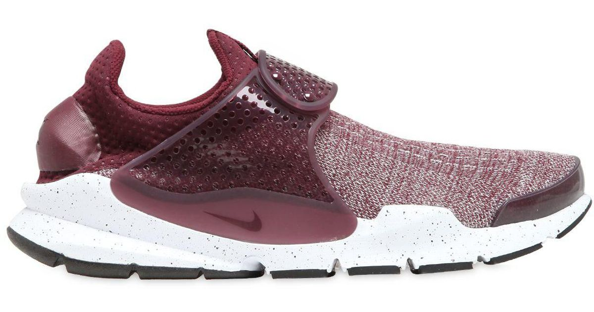 check out a70c1 0931a Nike Purple Sock Dart Flyknit Premium Sneakers for men