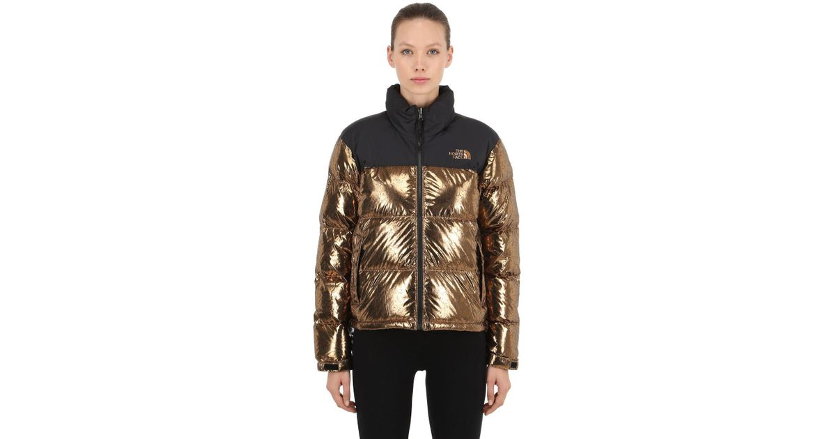 7b1329904 The North Face Metallic Womens 1996 Retro Nuptse Jacket In Copper