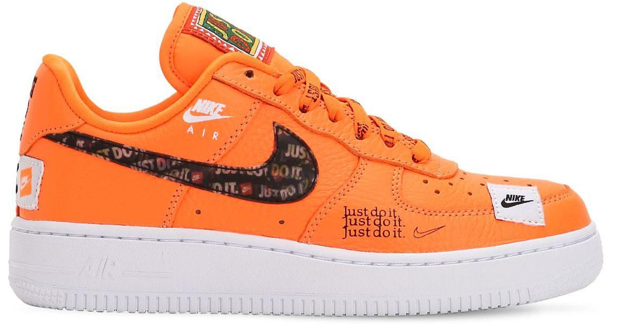 Lyst - Nike Air Force 1 Just Do It Sneakers in Orange 5fc8106d1