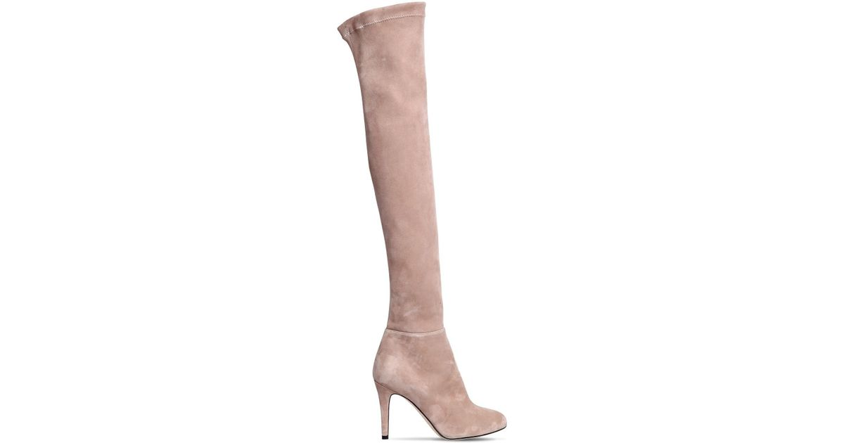Jimmy choo90MM TONI SUEDE OVER THE KNEE BOOTS c19dUi3oP0