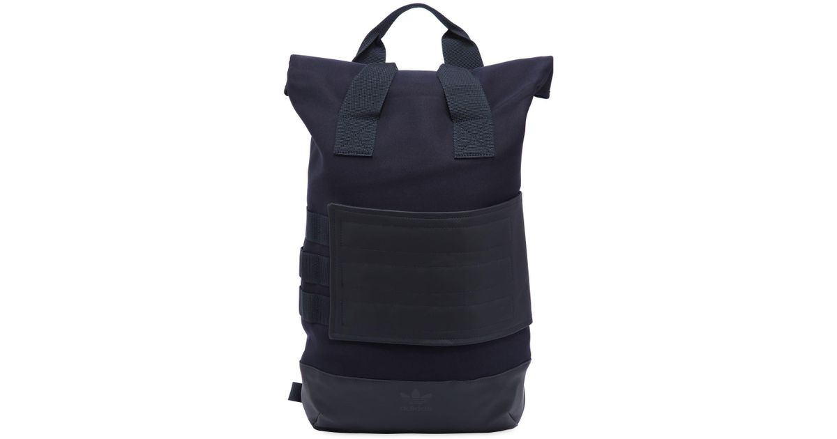 2db39e0e28 Adidas Originals Roll Top Backpack In Blue For Men Lyst