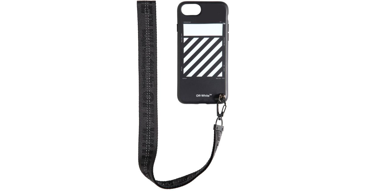 new styles 02c4b 6ff8d Off-White c/o Virgil Abloh Black Diag Iphone X Cover W/ Strap for men