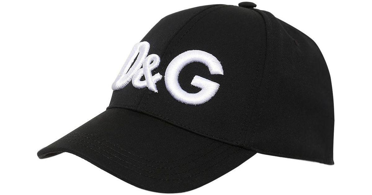 fbb9a99b3 Dolce & Gabbana Black Cappello Baseball In Tela Di Lana E Cotone for men