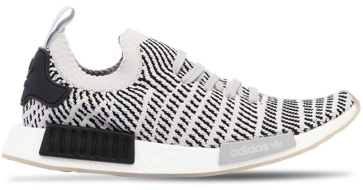 Adidas originali nmd r1 stlt primeknit scarpe in grigio per gli uomini lyst