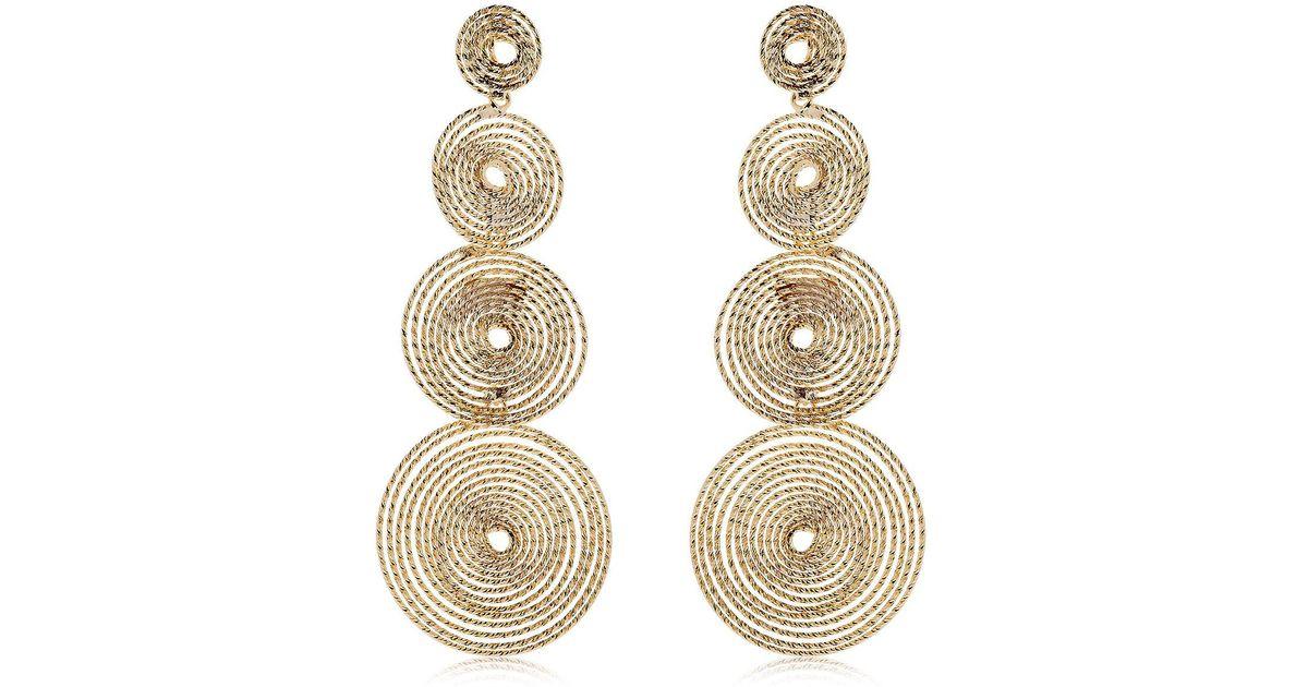 Rosantica Soffio Gold-tone Earrings 4nSh8