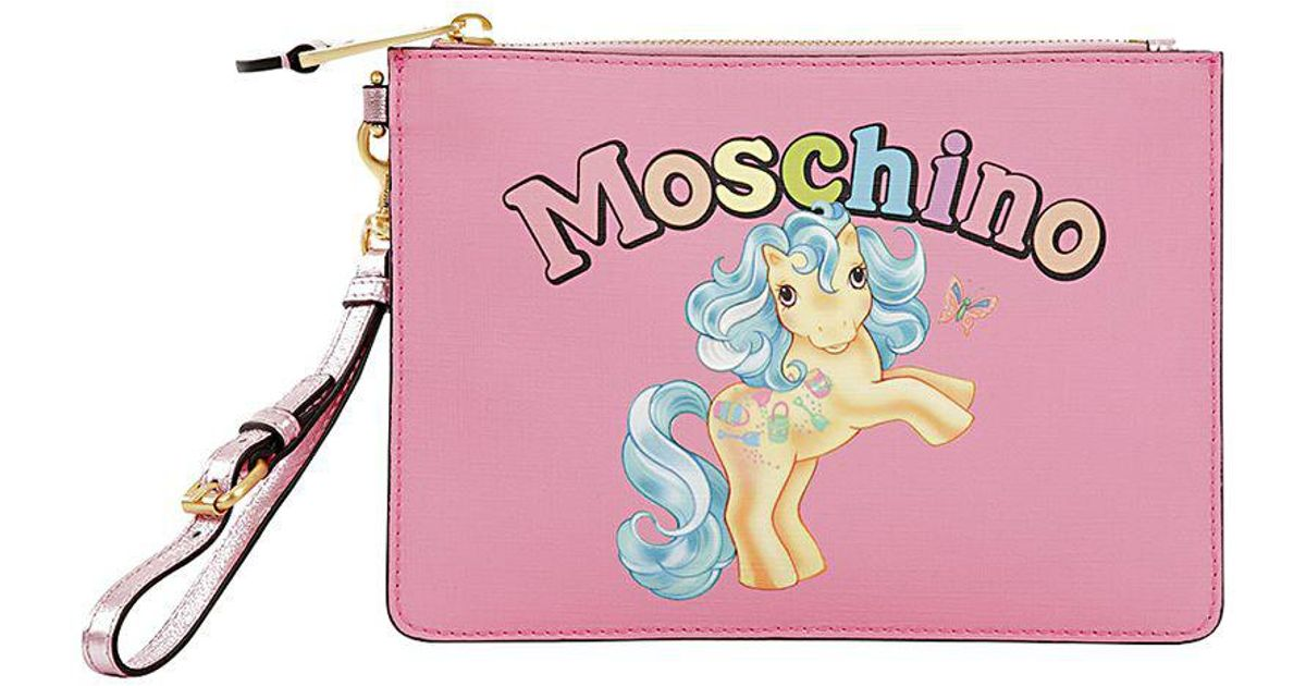 Moschino MEDIUM LITTLE PONY PRINTED POUCH i0A9qVcPhL