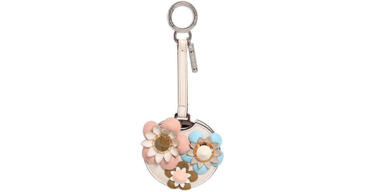 Lyst - Charm De Sac Avec Miroir Et Fleurs Appliquées Fendi en coloris Neutre 24c5b306432