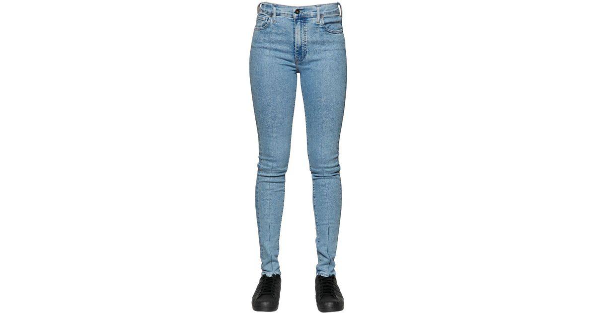4178de67 Levi's - Blue Sliced Sliver Stretch Cotton Denim Jeans - Lyst