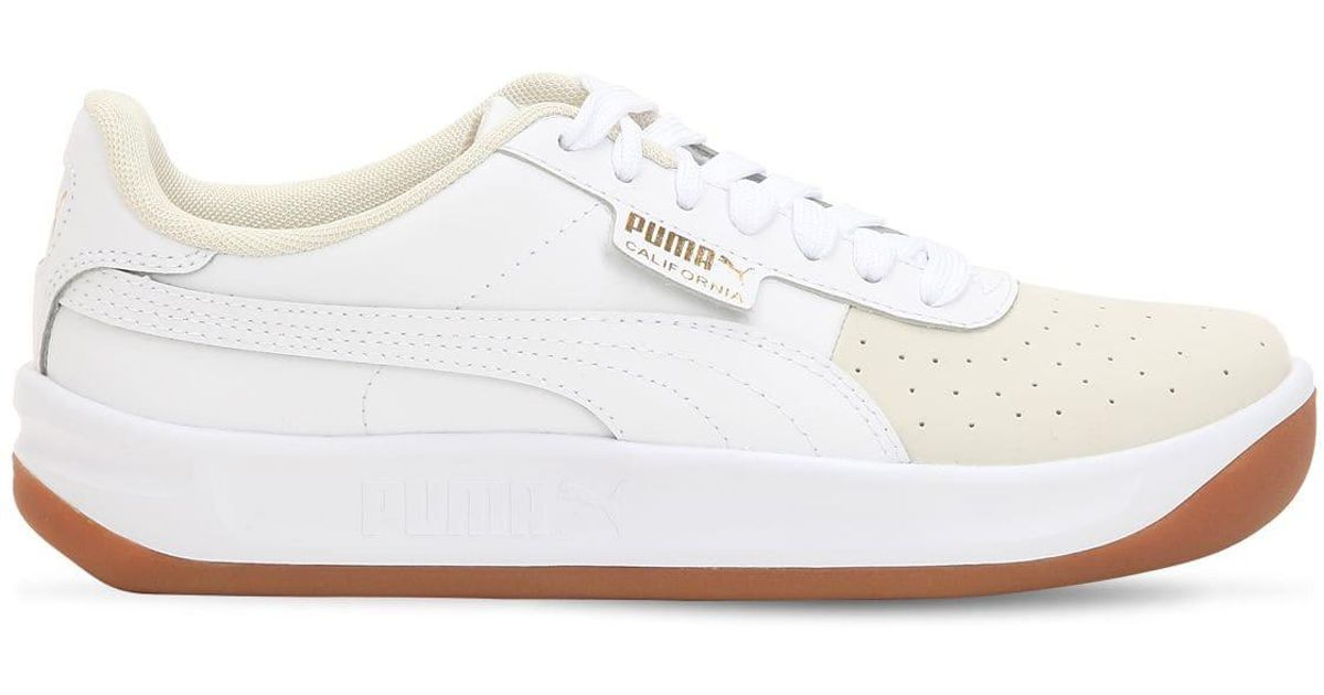 Puma Select White California Exotic Leather Sneakers