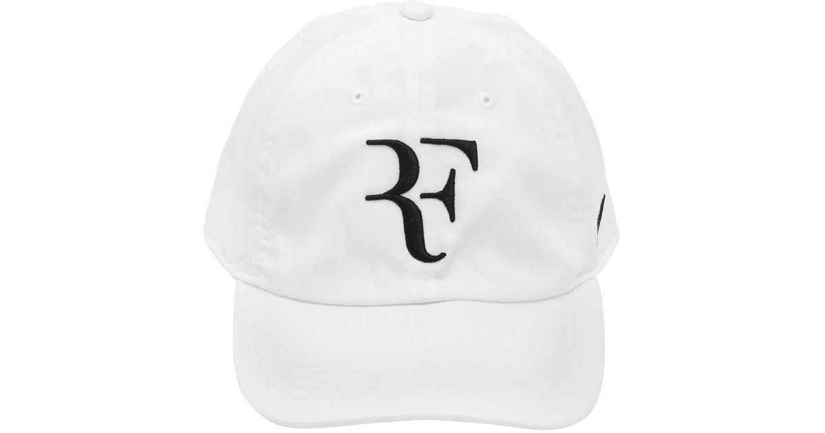 Nike Roger Federer Aerobill Heritage86 Hat in White for Men - Lyst 73a44329af69