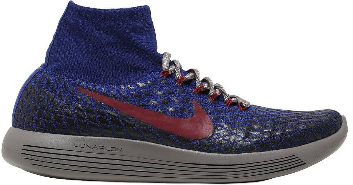 Men Shield Nike Flyknit Lunarepic For Lyst Nikelab Blue Sneaker 8m0Nnvw