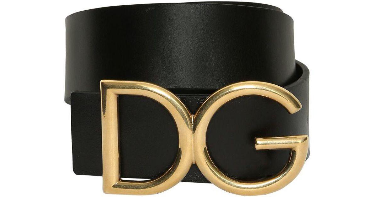 low price superior quality super popular Dolce & Gabbana - Black Ceinture en cuir avec boucle