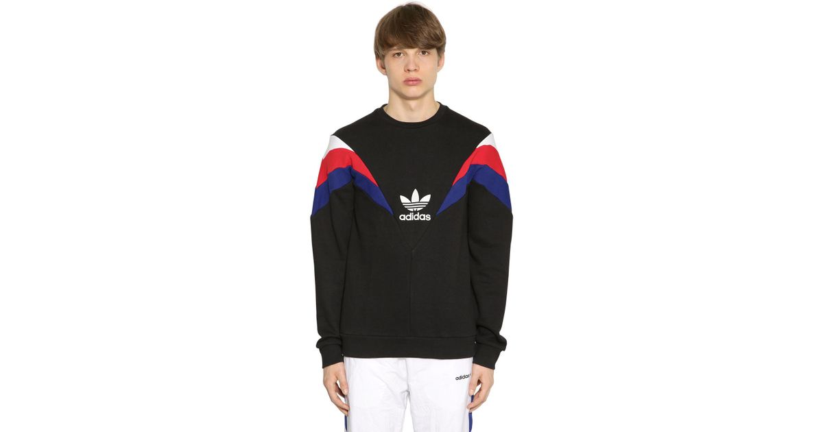Neva Originals Patchwork uomo per Felpa Adidas cotone Lyst nera in xqPAw7t4wI