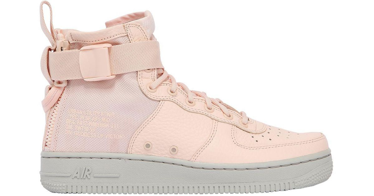 half off 846dc 01497 get nike air force 1 mid lyserød sort ef474 eed79