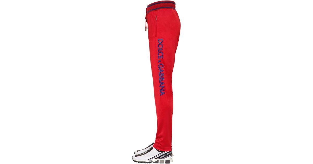 e5356dc19c2c Lyst - Dolce   Gabbana Track Pants W  3d Logo Lettering in Red for Men