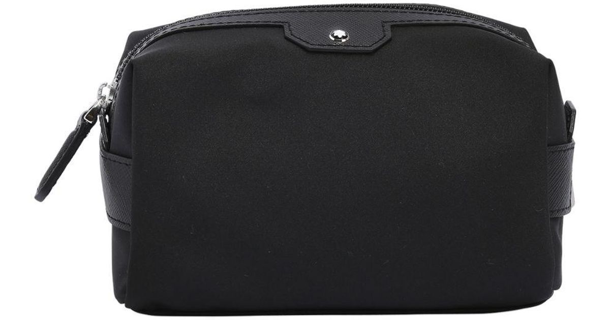Lyst - Montblanc Small Sartorial Jet Toiletry Bag in Black for Men - Save  51% 8ceb40190b