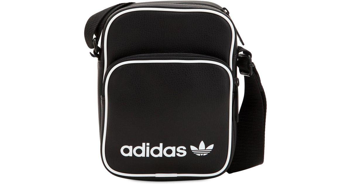 De Originals Bolso Color Black Mini Ecopiel Adidas Hombre SzMLqVpUGj