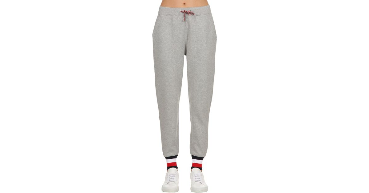 920230d63 Tommy Hilfiger Trisha Logo Cotton Blend Sweatpants in Gray - Lyst
