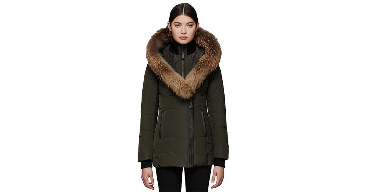 79fd372ba087 Lyst - Mackage Adali Fitted Winter Down Coat With Hood And Fur Trim in  Green for Men