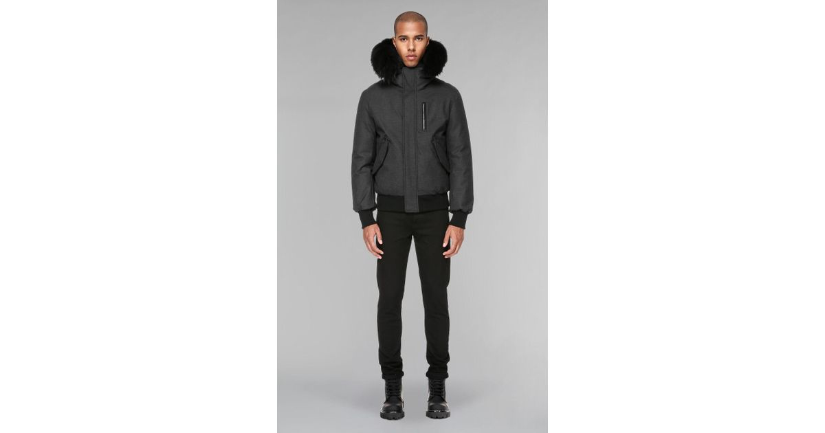 cfdeae701 Mackage Gray Hip Length Winter Down Parka With Fur for men