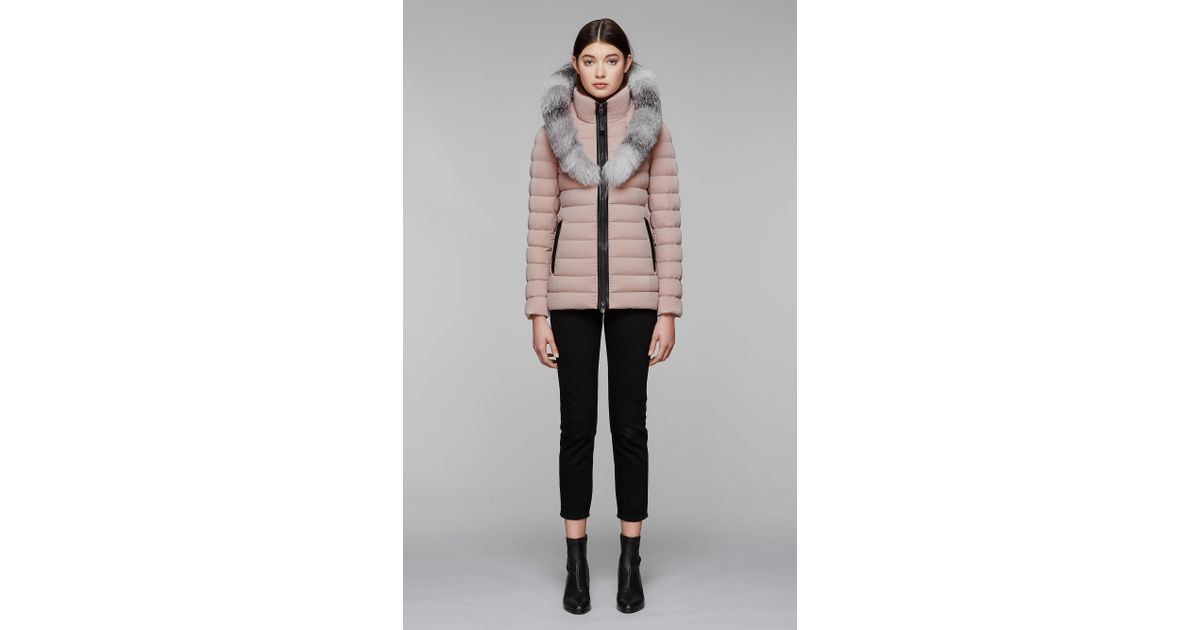 0022279073bad Mackage Kadalina-x Light Down Jacket With Fur Trimmed Collar - Petal - L -  Save 30% - Lyst