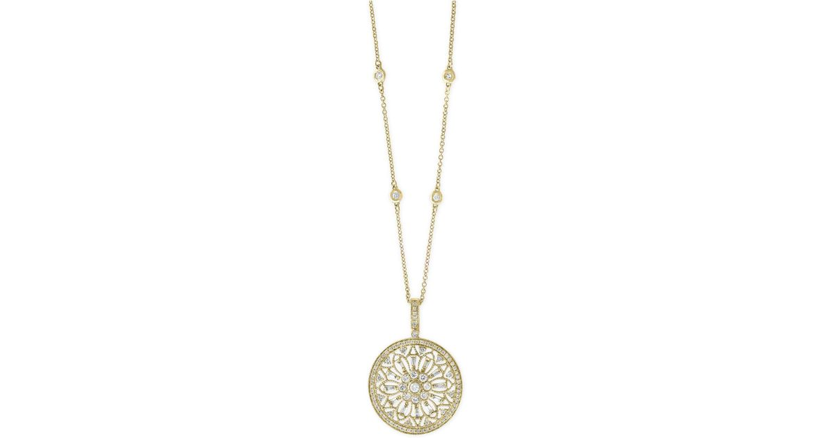 c075a529aab Effy Collection Metallic Diamond Filigree Pendant Necklace (1 Ct. T.w.) In  14k Gold, White Gold Or Rose Gold