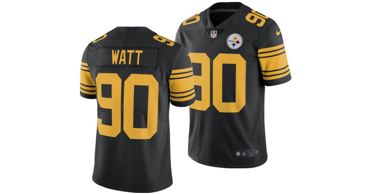 huge selection of e9961 746da Nike Black T.j. Watt Pittsburgh Steelers Limited Color Rush Jersey for men