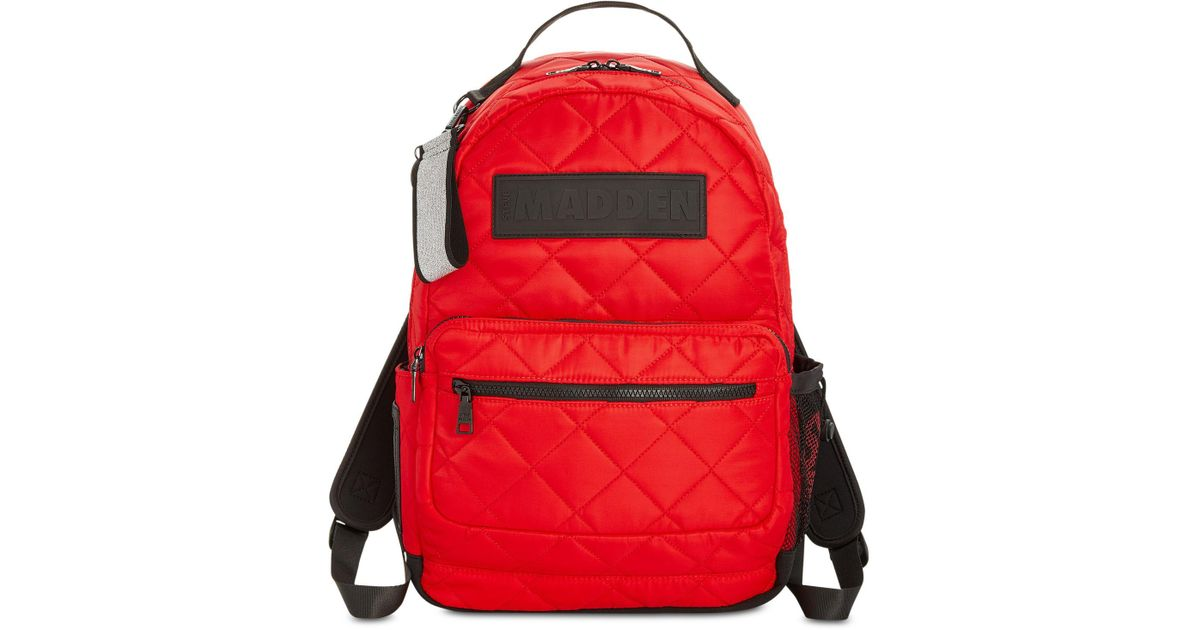 e3a1925508 Steve Madden Austin Quilted Backpack in Red - Lyst